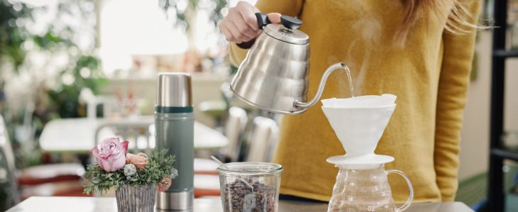 Swapping out pricey coffee drinks for homemade is one tip for managing your money while in college.
