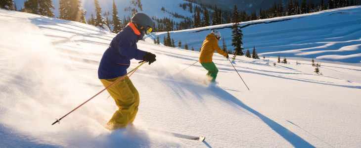 Try hitting a public park to go skiing for a budget-friendly winter activity.